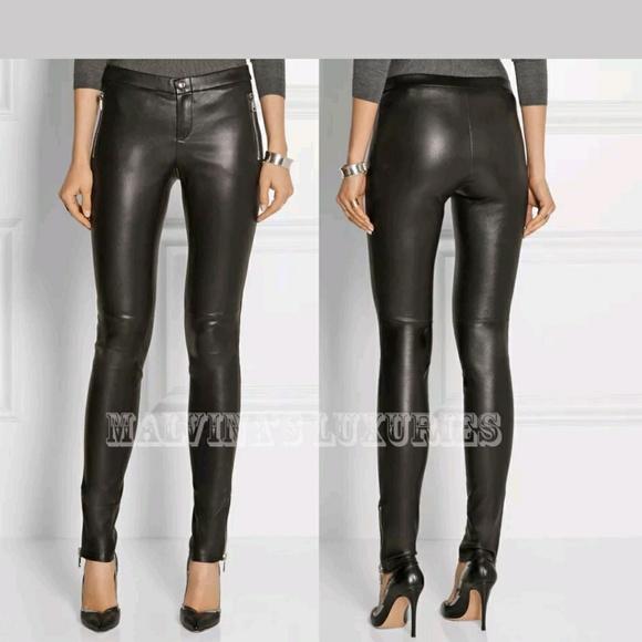 Gucci Denim - NEW GUCCI LEATHER PANTS size 42